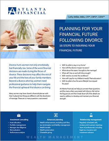 Planning for Your Financial Future Following Divorce